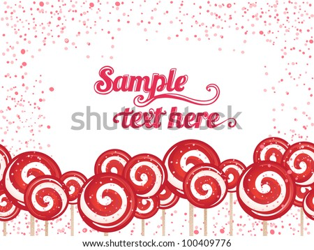 Candy lollipops bacground frame - stock vector