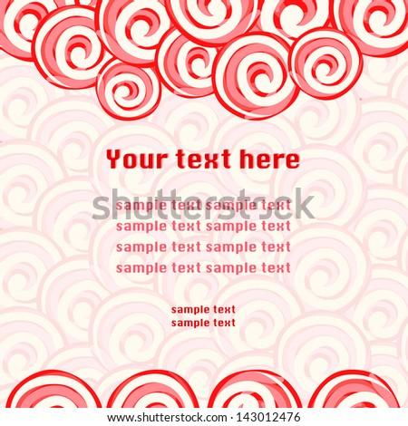 Candy lollipops background frame - stock vector