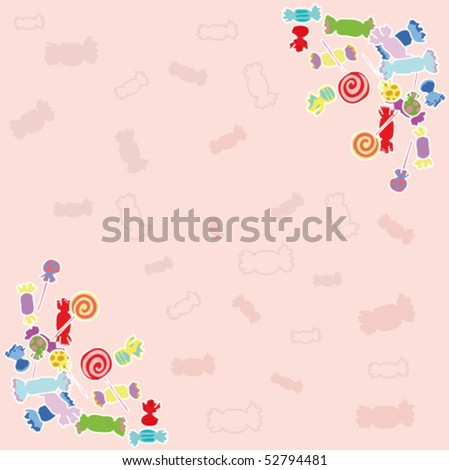 Candy pink background. - stock vector
