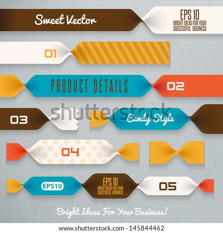 Candy ribbons illustration - stock vector