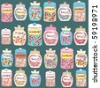 candy seamless background - stock vector