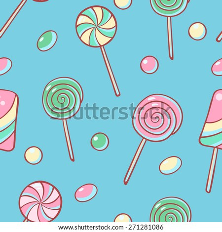Candy seamless pattern.