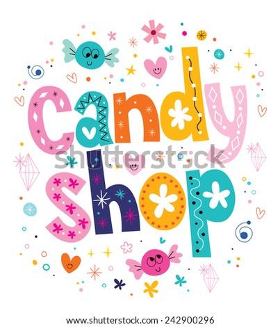 candy shop - stock vector
