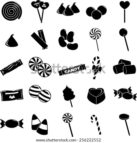 candy symbols set - stock vector