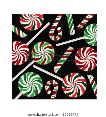 candycane background - stock vector