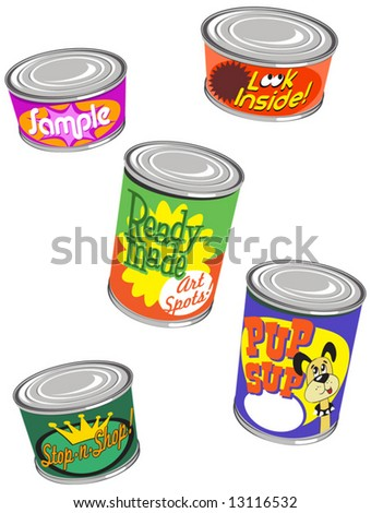canned web graphics set 3 - stock vector