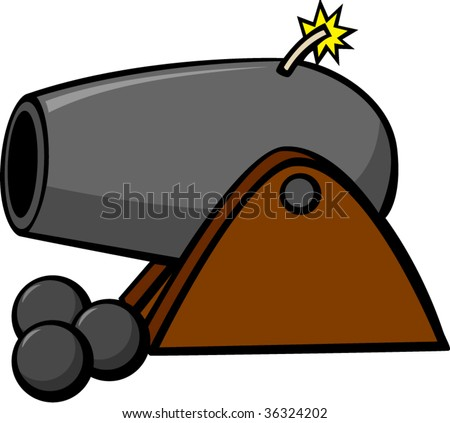 cannon weapon - stock vector