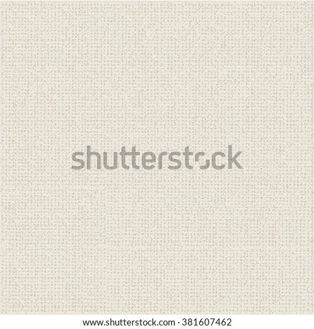Canvas paper texture. Beige fabric background. Abstract vector. - stock vector