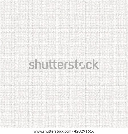 Canvas surface divided into squares. White fabric background. Abstract vector.