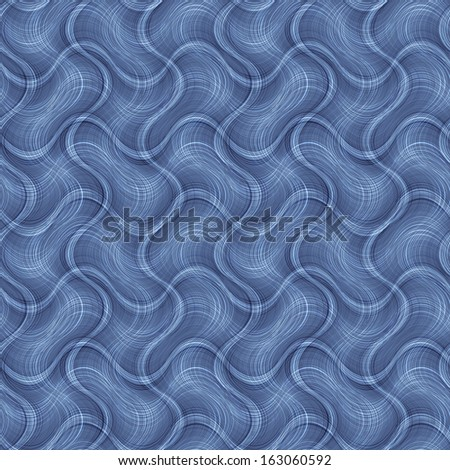 Canvas vector texture wave seamless pattern. - stock vector