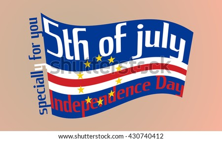 Cape Verde banner. 5th of july. - stock vector