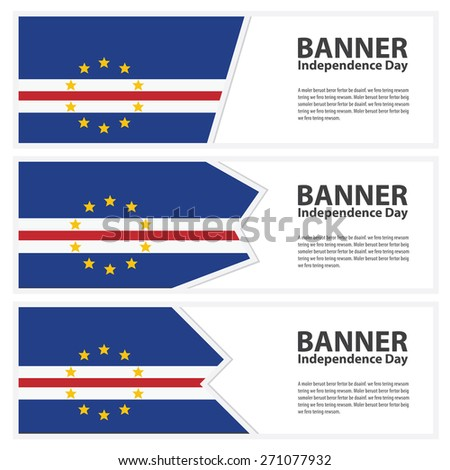 cape verde Flag banners collection independence day - stock vector