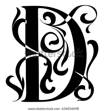 Illuminated Letters Alphabet Black And White