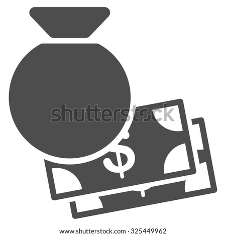 Capital vector icon. Style is flat symbol, gray color, rounded angles, white background. - stock vector