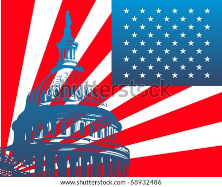 Capitol - stock vector