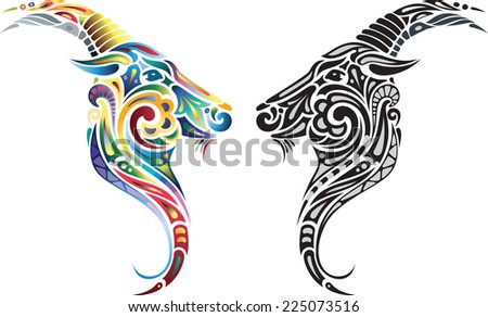 Capricorn - stock vector