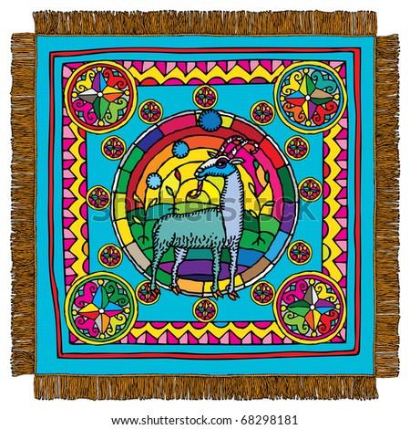 Capricorn horoscope sign carpet - stock vector