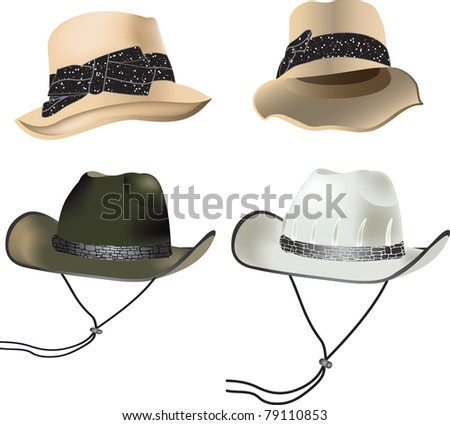 caps - stock vector