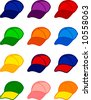 caps in different colors - stock vector