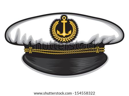 captain cap - stock vector