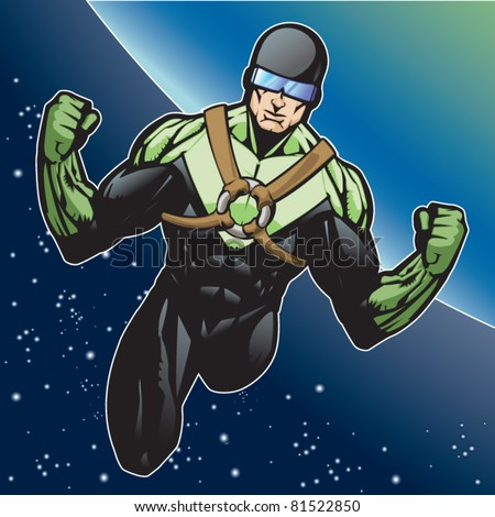 Captain Rocket Pack 4 - stock vector