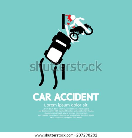 Car Accident Vector Illustration - stock vector