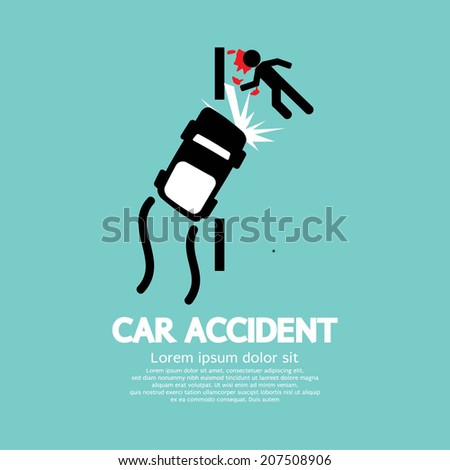 Car Accident Vector Illustration - stock vector