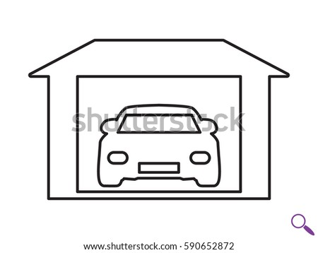 Car garage icon vector illustration eps 10 590652872 for Logos de garajes