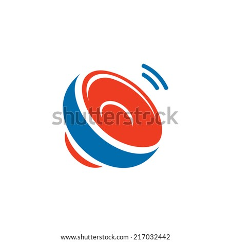 Car Audio speaker abstract sign Branding Identity Corporate vector logo design template Isolated on a white background - stock vector