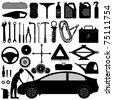 Car Auto Accessories Repair Tool Equipment Service - stock photo