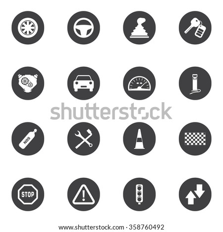 Car, auto icon set for web and mobile.  - stock vector