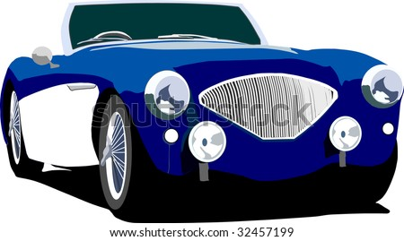 Car british sports coupe vector. - stock vector