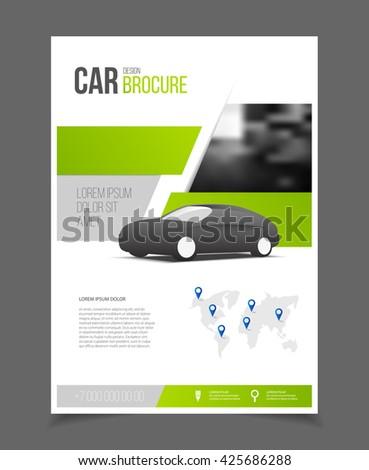 Car Brochure Auto Leaflet Brochure Flyer Stock Vector 425686288