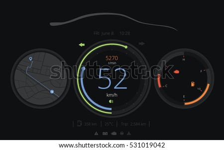 Car car hud dashboard vector