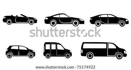 Car category - stock vector
