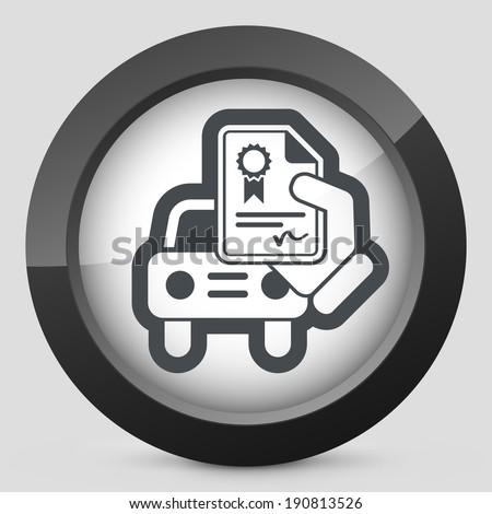 Car certificate icon - stock vector