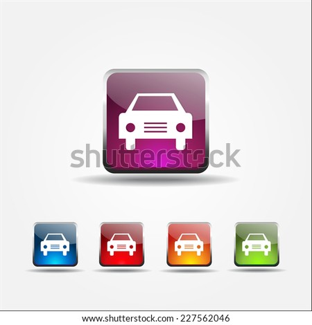 Car Colorful Vector Icon Design