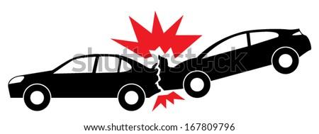 Car Crash icon - stock vector