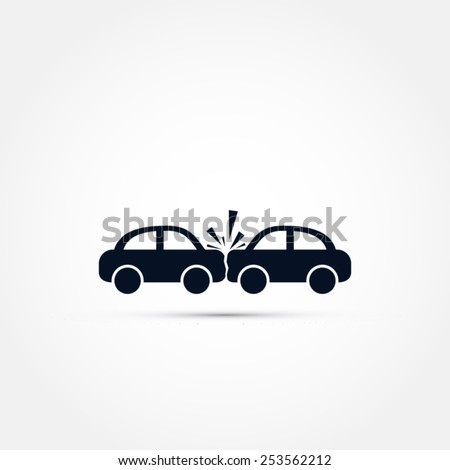 Car crash icon - stock vector