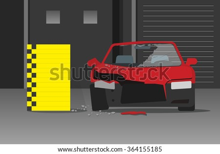 Car Crash Test Vector Illustration Dark Stock Vector (2018 ...