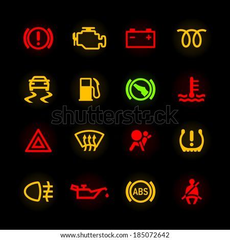 Warning Light Stock Images RoyaltyFree Images Vectors - Car image sign of dashboarddashboard warning lights stock images royaltyfree images