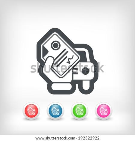 Car document - stock vector