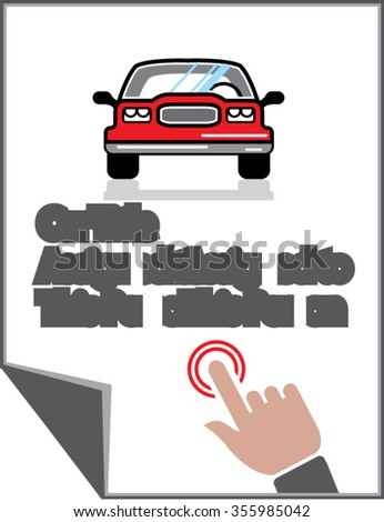 Car Document Click Sign - stock vector