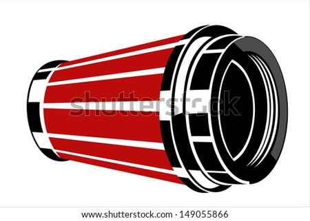 Car engine air filter. vector  - stock vector