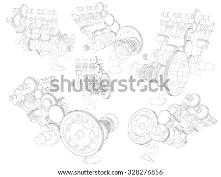 Diesel Engine Mechanic Stock Images Royalty Free Images Vectors