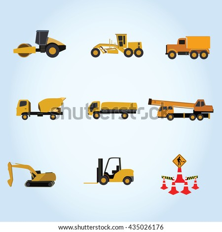 car equipment for construction work vector illustration isolated