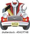 car fix - stock vector