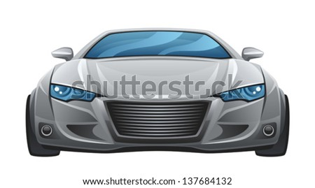 Car front - stock vector