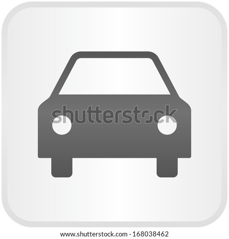 Car, front view (elegance metallic button) - stock vector