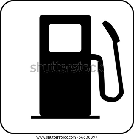 car fuel signal, vector - stock vector